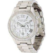 Michael Kors Layton Chronograph Silver Dial Ladies Watch MK5667