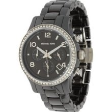 Michael Kors Runway Black Ceramic Chronograph Womens Watch Mk5470