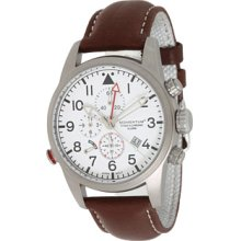 Momentum Titan Iii Men's Quartz Watch With White Dial Analogue Display And Brown Leather Strap 1M-Sp32w2c