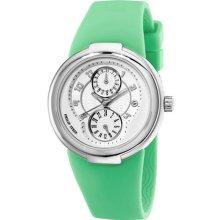 Philip Stein Active Green Rubber Strap Ladies Watch 31-AW-RA