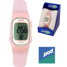 Pod Womens Ladies Rubber Strap Sports Casual Digital Watch Pink Xmas Gift