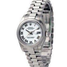 Rolex Datejust President 31mm Platinum Ladies Midsize Watch 178246