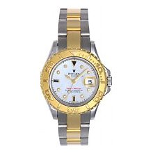 Rolex Oyster Perpetual Lady Yachtmaster 18k Yellow Gold and Stainless Steel Unworn White MOP Diamonds & Sapphires
