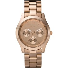 sears Ladies' Relic Watch w/Round Rose Goldtone Case, Multi-Display Dial and Bracelet Band