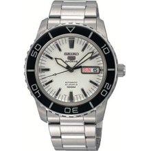Seiko 5 Sports Snzh51j1 Automatic White Dial Silver Watch Japan Made 100m