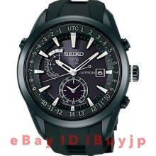 Seiko Astron Solar GPS Titanium PVD Rubber 47 mm Watch - Black Dial, Black Rubber Strap SAST011 Sale Authentic Ceramic