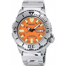 Seiko Diver's Automatic 200M - Orange Dial - Stainless Bracelet SKX781