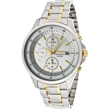 Seiko Men's Stainless Steel Case Chronograph Date Rrp $295 Watch Snde23p1