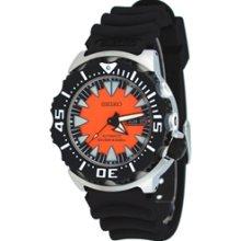 SRP315K1 - 2013 Seiko Automatic 4R36 Orange Burst Monster Professional Divers 200m Watch