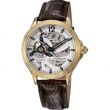 Stuhrling Original 170 3335k2 Classic Delphi Helix Automatic Skeleton Mens Watch
