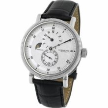 Stuhrling Original 97.33151 Special Reserve Operetta Slim Swiss Quartz with Stainless Steel Case Silver Dial and Black Leather Strap Watch