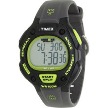 Timex IRONMAN Traditional 30-Lap Full-Size Black/Green Resin Strap Watch Digital Watches : One Size