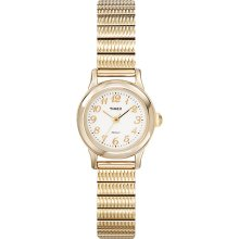 Timex Women's Dress Watch, Gold-Tone Stainless-Steel Expansion Band